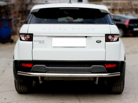 Range Rover Evoque (evolution) 2011-наст.вр.-Защита заднего бампера d-60 с подгибами